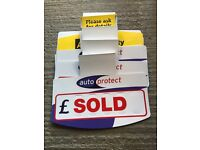 Job Lot of Car Sale Boards and Advertising etc.