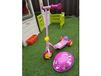 Peppa Pig scooter and helmet