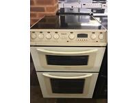 CREAM 60CM WIDE ELECTRIC COOKER WITH GUARANTEE