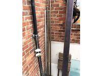 metal poles and aluminium trim