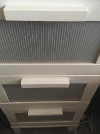 Three drawer white aneboda Ikea