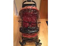 Graco Mirage Pushchair/ Buggy/ Pram (red colour) with free rain cover