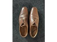 Brown leather men's shoes size 13