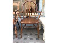 Wheelback solid chair