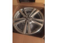 4 X 18'' Audi A3 S line genuine alloy wheels with centre caps