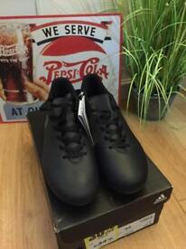 New size 7.5 Blk Adidas X FG Football boots