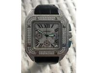 CARTIER SANTOS 100xl diamond limited edition