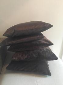 X5 brown cushions