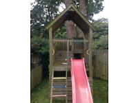 Jungle gym wooden outdoor play house