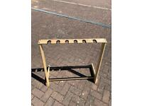 6 guitar wooden stand: collection only