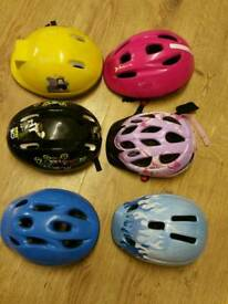 Bike helmets £2 each