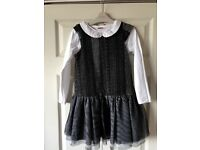 Party dress + long sleeve top size 7-8 years old