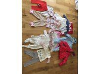 6-9 months baby girl clothes bundle job lot