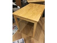 Ikea beech wood table.