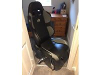 FK leather bucket desk chair great condition £60 or nearest offer