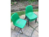 Chairs - Vintage Children's School Chairs Green