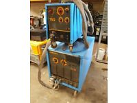 INE NM382, 3 PHASE MIG WELDER WITH SEPERATE WIREFEED UNIT. SERVICED, FULLY WORKING