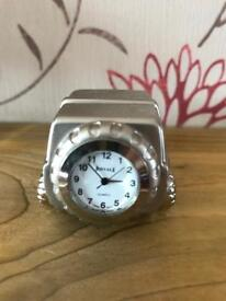 Silver Jeep Novelty Clock