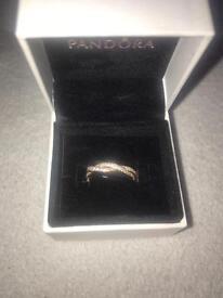 Twist of Faith Rose gold Pandora ring