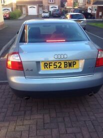 AUDI A4 2002 5 door | 2.4 Petrol | MOT until July 2018
