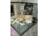 Xl dog cage also quick flat pack for storage