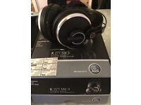 AKG K271 MKII Circumaural Studio Headphones & HiEGi Headphone Large Size Hard Cases