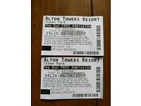 2alton towers tickets for 6 June 2017