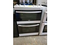 New ZANUSSI A+class 60cm Ceramic Cooker With Double Oven