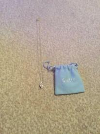 Silver pendant necklace from oasis