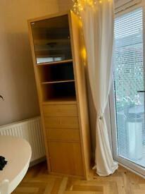 Birch veneer tall storage unit/cabinet/cupboard