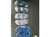 Boys sandals an trainers