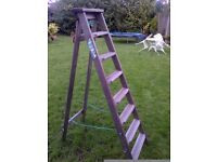 tall very well built wooden step ladder in very good condition