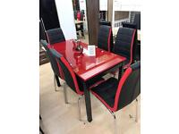 Extended dinning table with 6 chairs