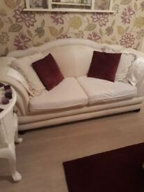Ivory/Cream sofa french style shape