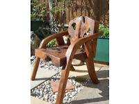 Teak Root Wood Indoor outdoor Chair