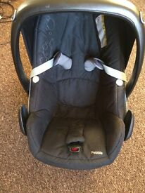 Carrycot, car seat, backpack harness