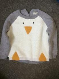 Kids penguin jumper 9-12 months