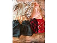 Girls 12-18 skirt and tops