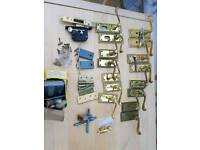 Brass door handles & various.