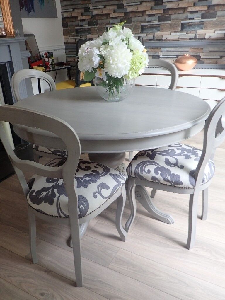 Enjoyable Shabby Chic French Style Dining Table And 4 Chairs In Urmston Manchester Gumtree Download Free Architecture Designs Embacsunscenecom