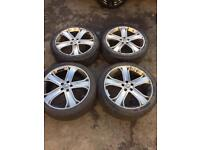 """Audi / Land Rover Alloy Wheels 22"""" inch ( Very Good Tyres )"""