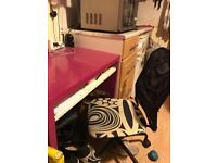 Ikea office desk and chair