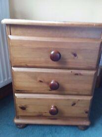Pine Bedside Drawer cabinet