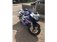 Suzuki GSXR 750 2003 plate, 10months MOT and serviced