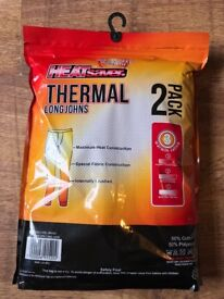 New pack of HEATsaver Thermal Long Johns. White, large, pack of 2.