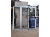 Brand new glazed aluminium bifold doors