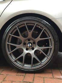 "Original 20"" BBS alloy wheels (Staggered) for BMW F10/11 .....9.5x20 & 10.5x20. Michelin Pilot Sport"