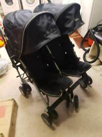 Silver cross double pushchair Used and in very good condition