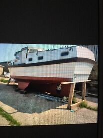 Motor sailor boat houseboat project liveaboard 36ft 4berth galley 2 cabins inboard diesel CHEAP