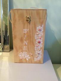 Wooden 4 bottle wine box New